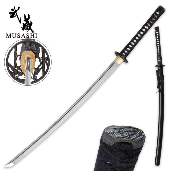 Musashi Hand-Forged 1060 Carbon Steel Samurai Sword