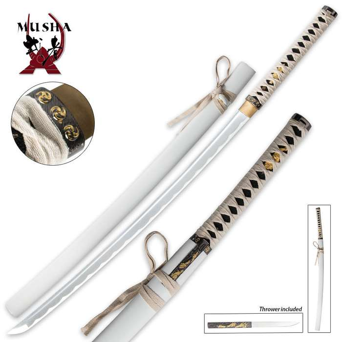 Musha Bushido Zetsurin Samurai Sword White
