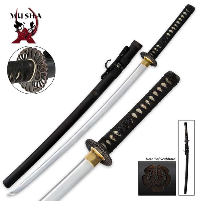 Musha Bushido Genko Samurai Katana Sword 1045 Carbon Steel