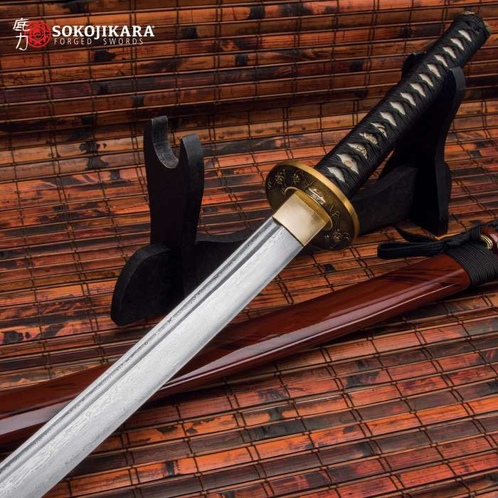 Painstakingly handcrafted sword, using only the finest materials for spectacular visual allure and tremendous capability