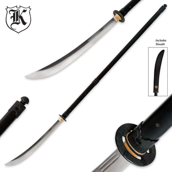 70 In. Hand Forged Naginata Sword With Sheath