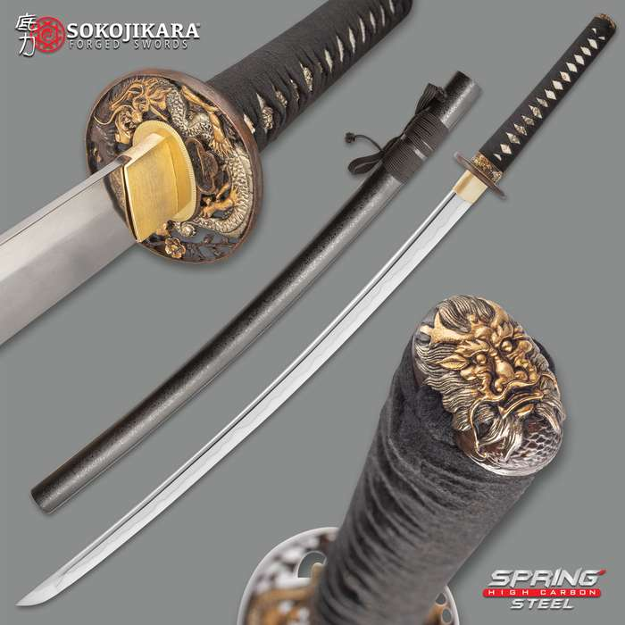 Sokojikara Kengo Golden Dragon Sword - 5160 High Carbon Spring Steel