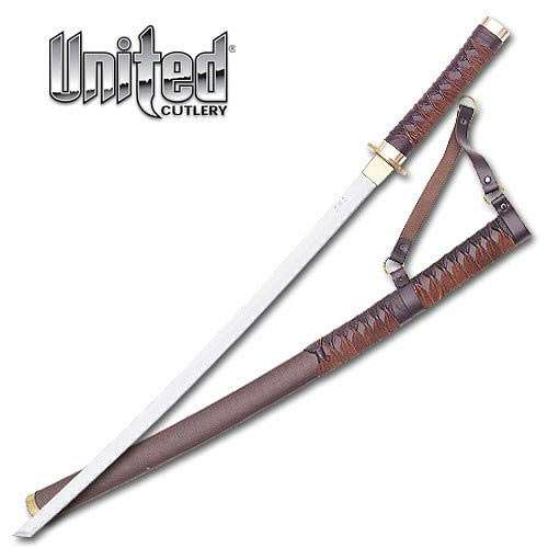 Braided Leather Samurai Katana Sword
