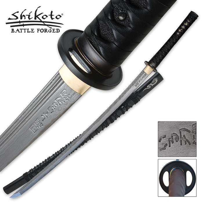 Shikoto Hand Forged Katana Damascus Sword