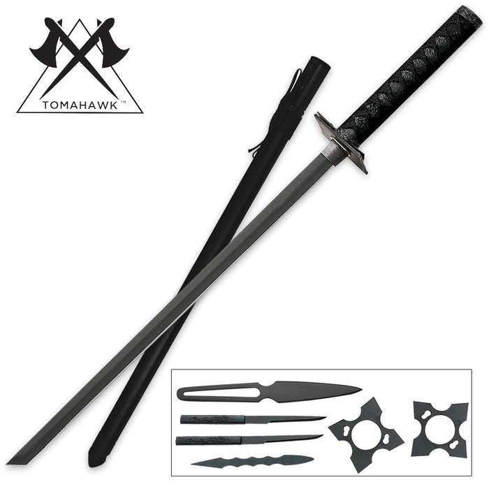 Black Ninja Sword Set