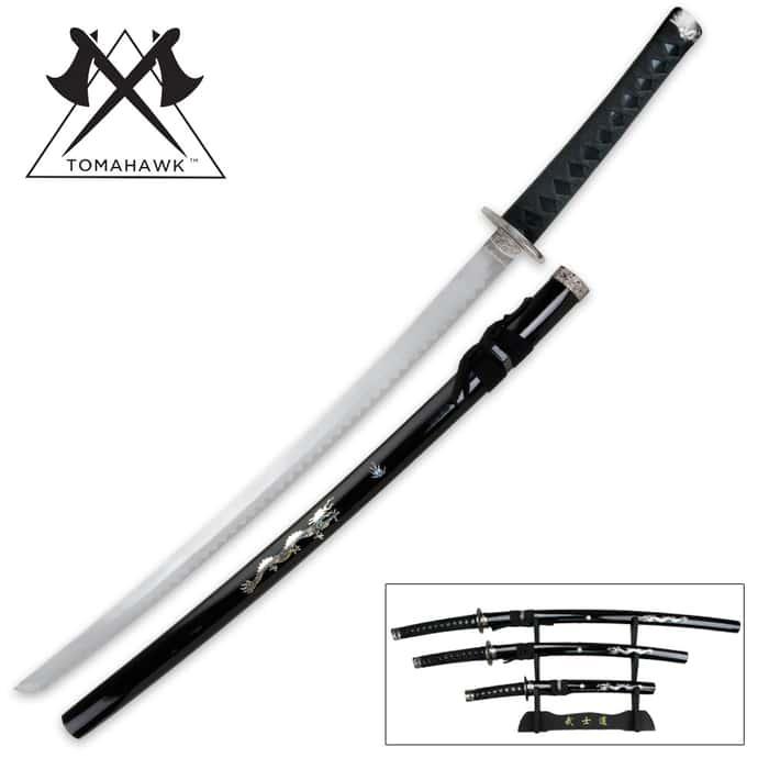 Black Dragon 3-Piece Sword Set