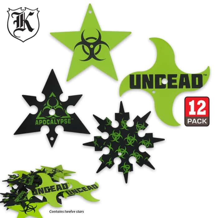 Undead Apocalypse Dozen Throwing Star Set