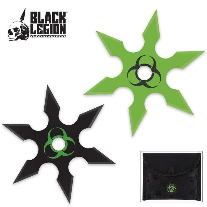 Black Legion Biohazard 2-Piece Throwing Star Set