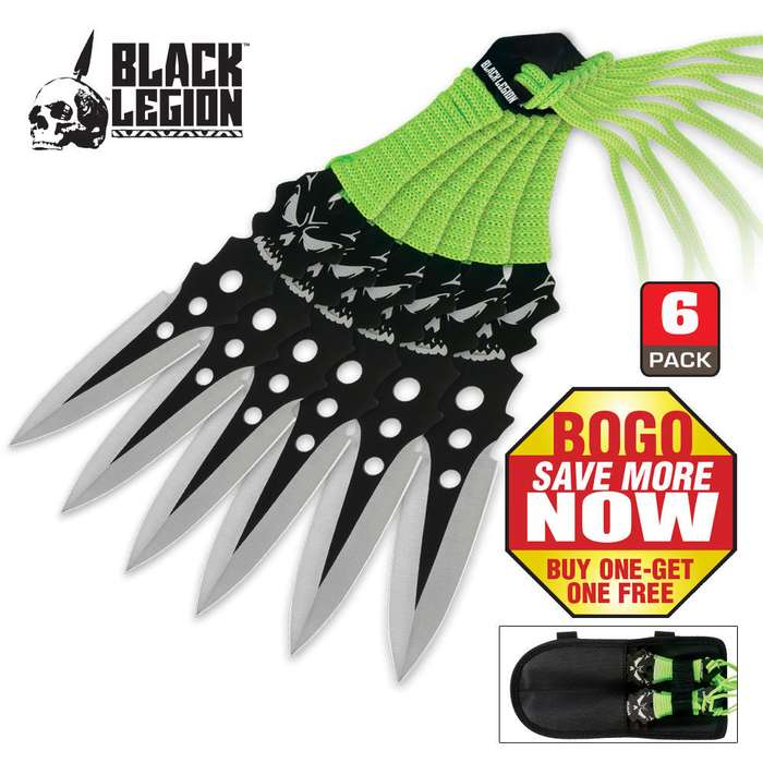 Black Legion 6-Piece Throwing Knife Set 2 for 1