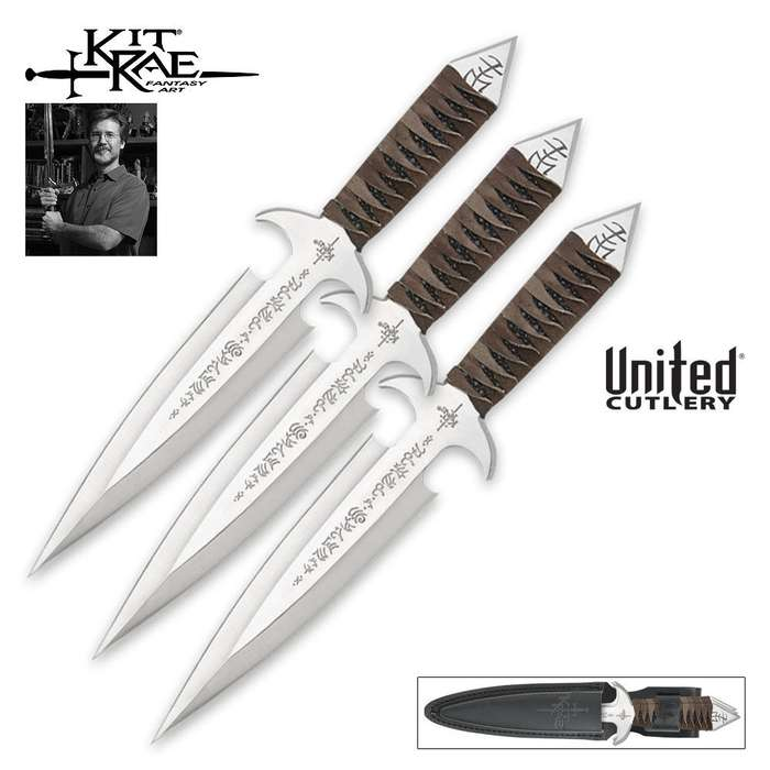 Kit Rae Black Jet Triple Throwing Knife Set