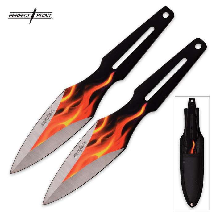 Perfect Point 2-Piece Throwing Knife Flame Set