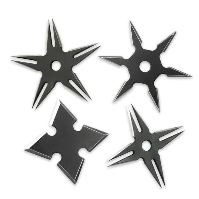 Ninja Warrior Throwing Stars, Set of 4