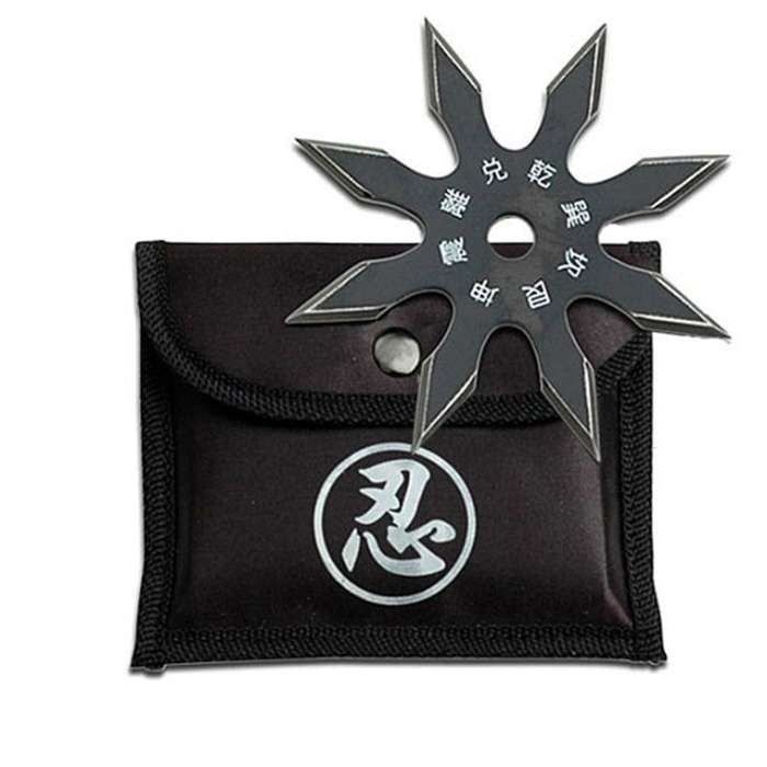 Covert Tactical Eight Point Ninja Throwing Star With Sheath