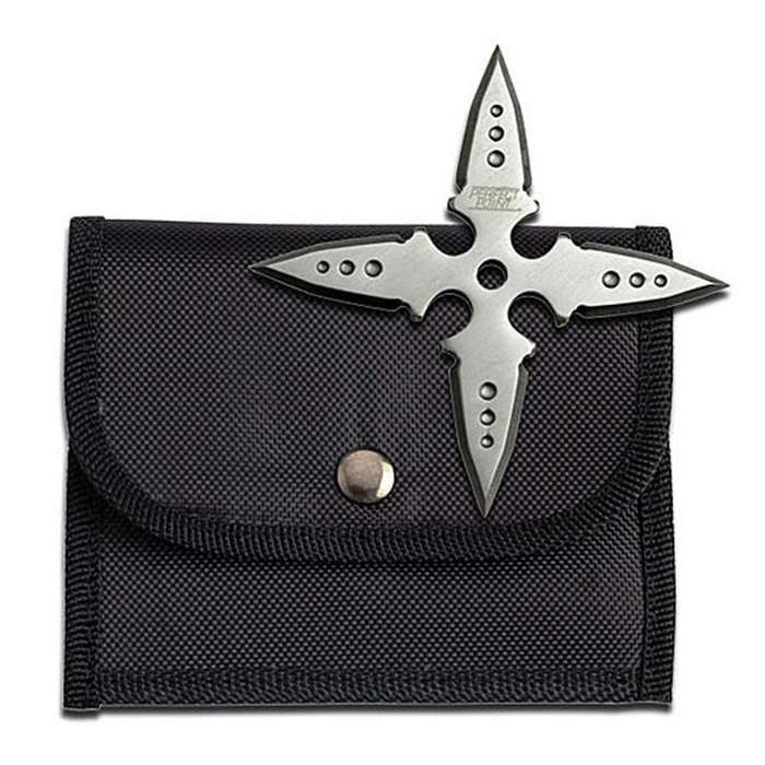 Four Point Satin Finished Ninja Throwing Star