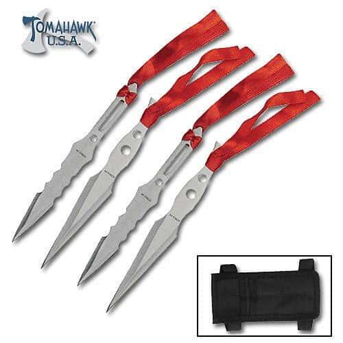 4 Piece Throwing Knife Set
