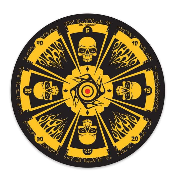 Yellow Skull Throwing Target Board