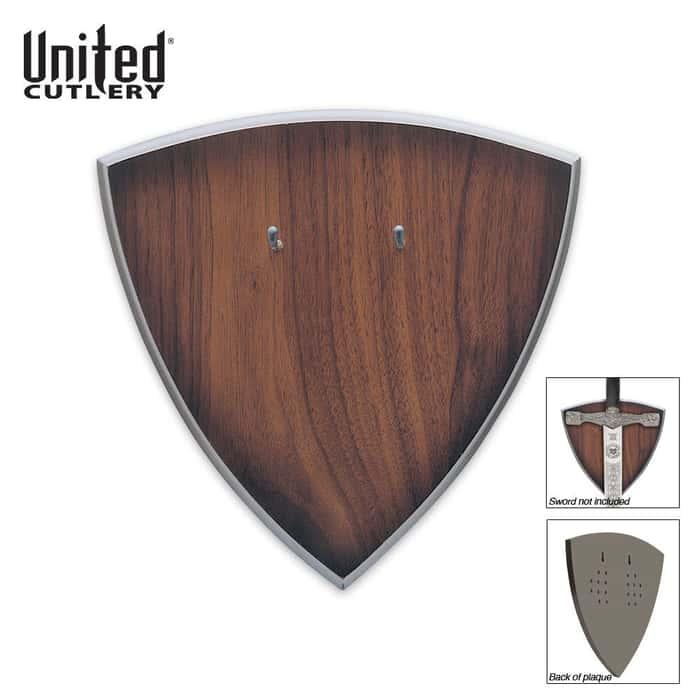 Brown Hardwood Universal Sword Plaque