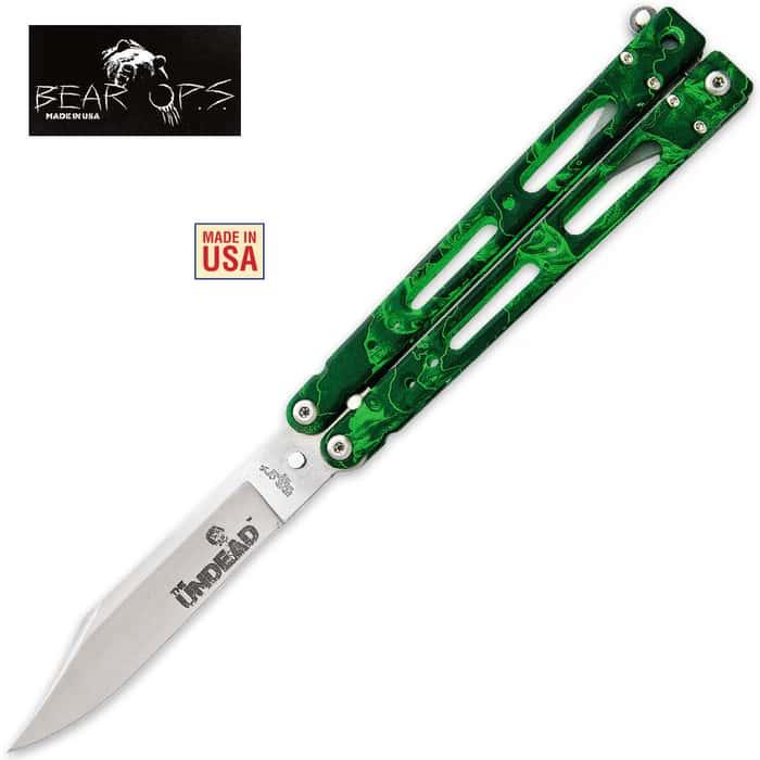 Bear Ops Bear Song IV 400 Reaper Z Butterfly Knife Clip Point
