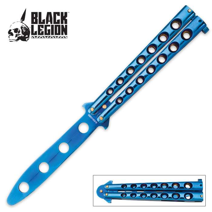 Black Legion Balisong Butterfly Trainer Knife - Blue