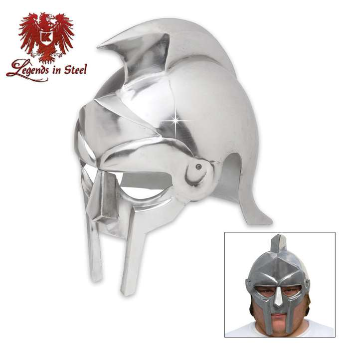 Roman Gladiator Maximus-Style Historic Reproduction Helmet