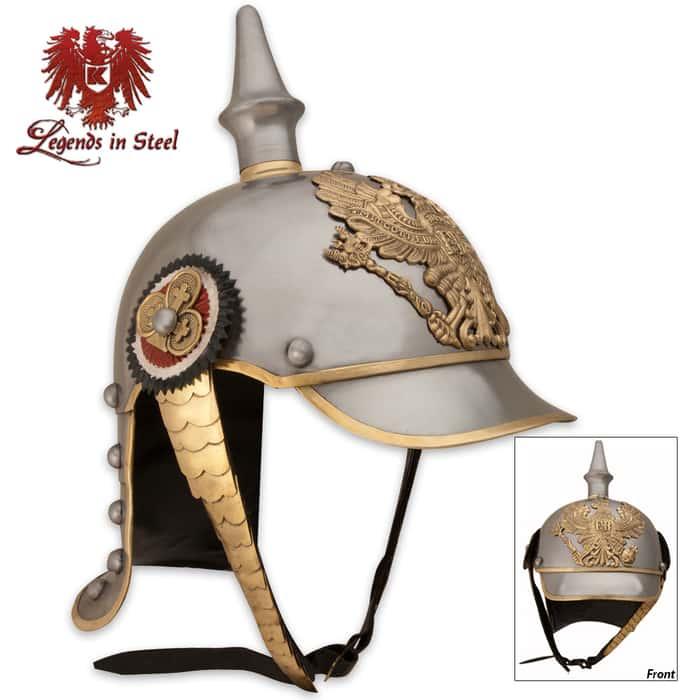 German Pickelhaube Historic Reproduction Military Helmet