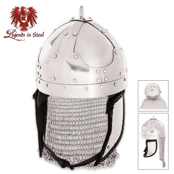 Legends In Steel Kings Helm With Chain Mail