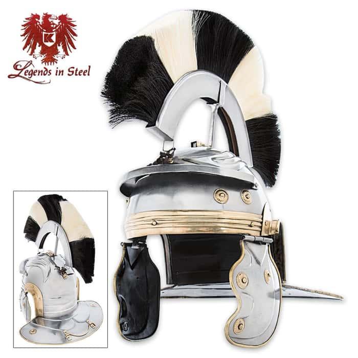 Imperial Gladiator Helmet Black and White