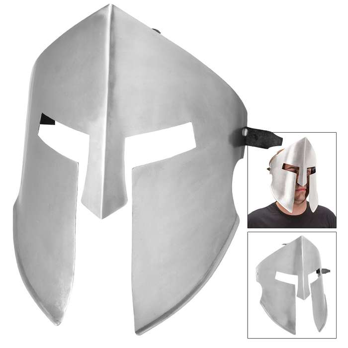 20-Gauge Iron Spartan Battle Mask - Silver