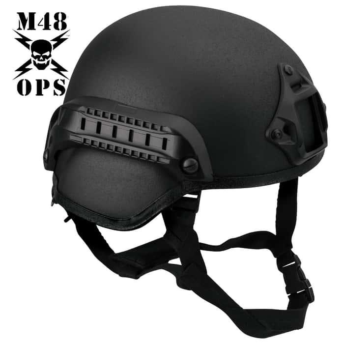M48 OPS Tactical Base Jump Helmet Black