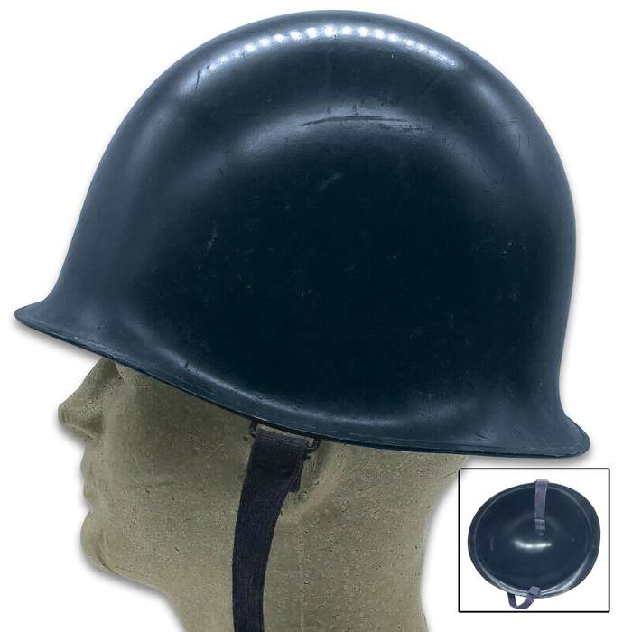 french dark blue gendarmerie helmet side view