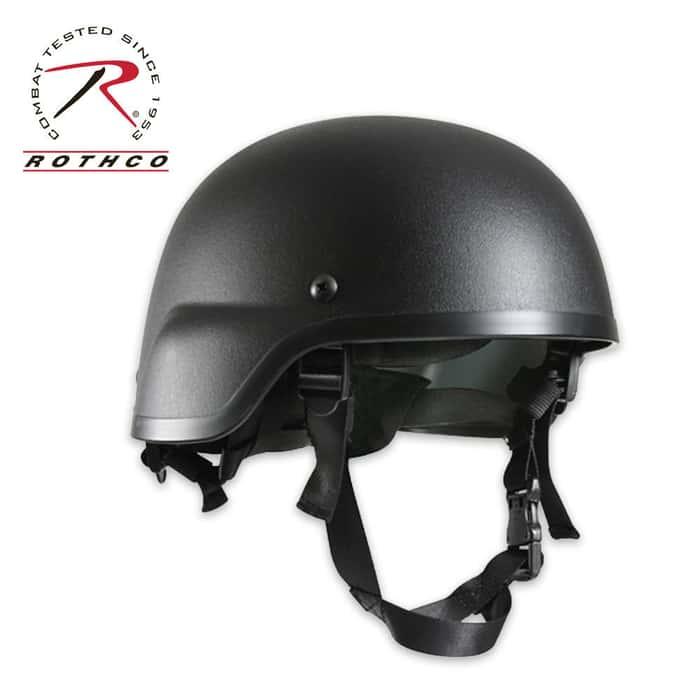 ABS Plastic MICH-2000 Tactical Helmet Black