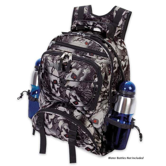 Extreme Pak Red-Eyed Skull Camo Backpack