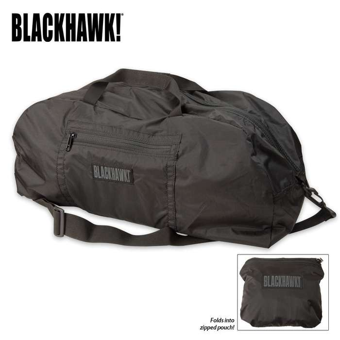BLACKHAWK! Stash Away Duffel Bag Black