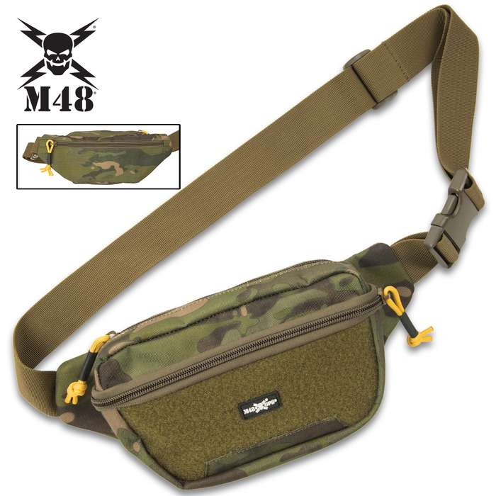 "The 9""x 6"" Tactical Waist Bag is the perfect size to carry your small essentials securely close to you without being too bulky"