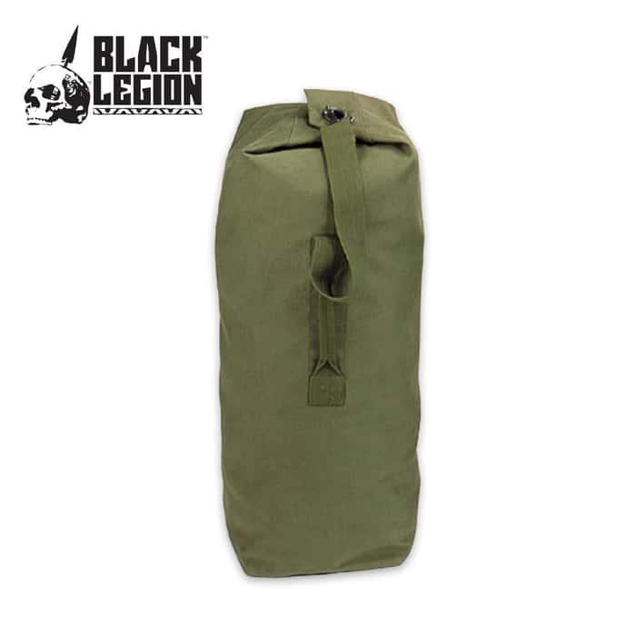 Black Legion Jumbo Single Strap Duffle Bag OD 25 x 42