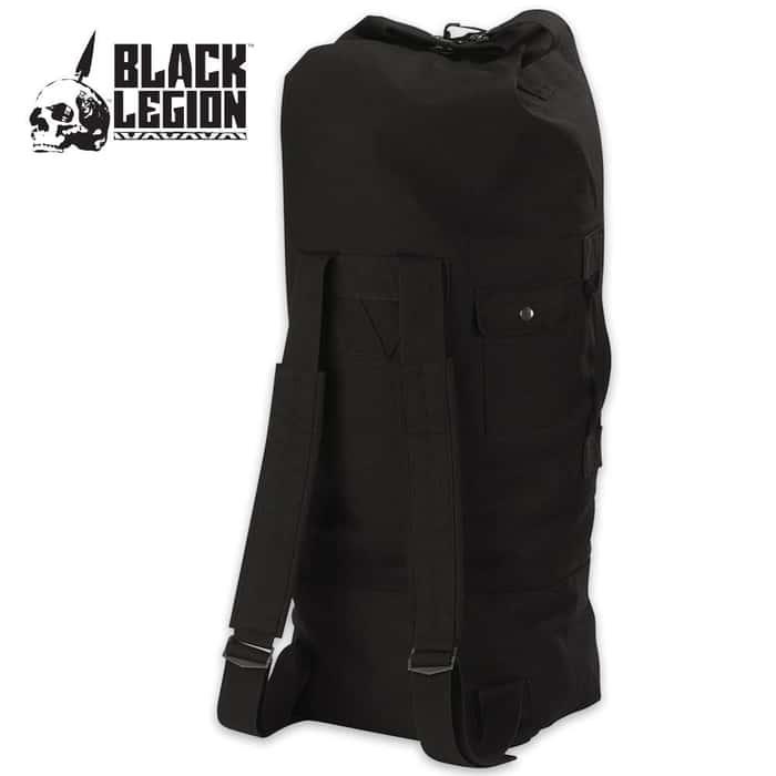 Black Legion GI Style Double Strap Duffle Bag Black