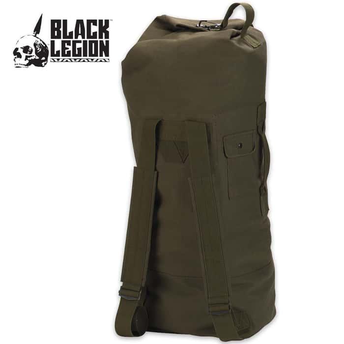 Black Legion GI Style Double Strap Duffle Bag OD