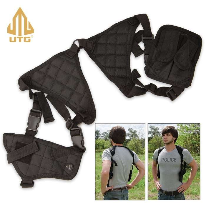 UTG Law Enforcement Grade Universal Horizontal Shoulder Holster