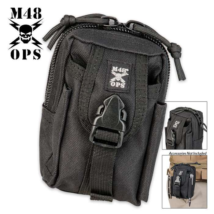 M48 OPS Tactical Belt Pouch - Black