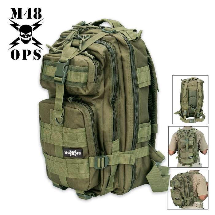 M48 OPS Tactical Assault Backpack OD