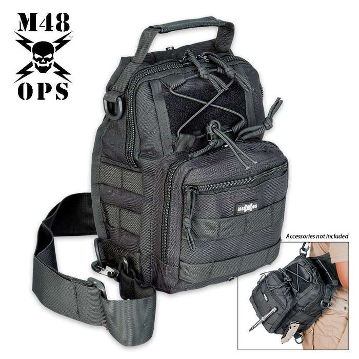 M48 OPS Tactical Military Bag - Black