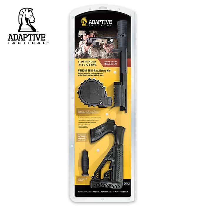 Adaptive Tactical Venom SE Shotgun Magazine Conversion Kit with 10-Round Rotary Magazine