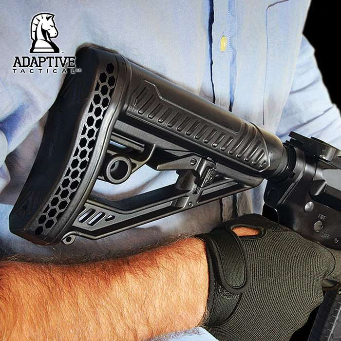 Adaptive Tactical EX Performance Adjustable M4-Style Stock for AR15/M4 Carbines - Mil Spec