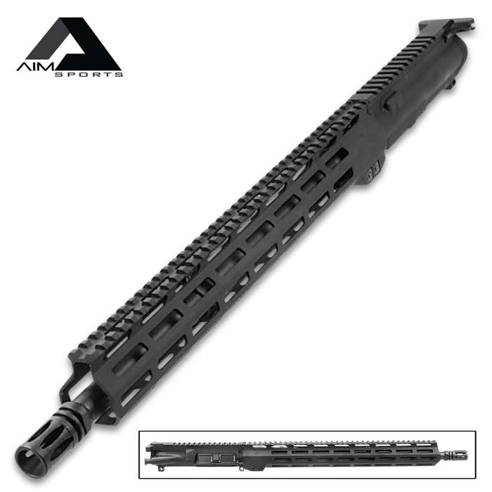 "AIMS 15"" M-Lok AR15 Upper Assembly In 5.56 NATO - High-Quality Materials, All Necessary Parts Included"