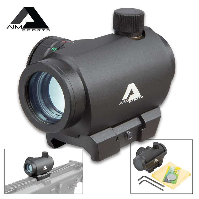 AIMS 1x20 MM Micro Dot Sight - Aircraft Grade Aluminum Construction, Shock-Resistant, Nitrogen Charged, Dual Illuminated