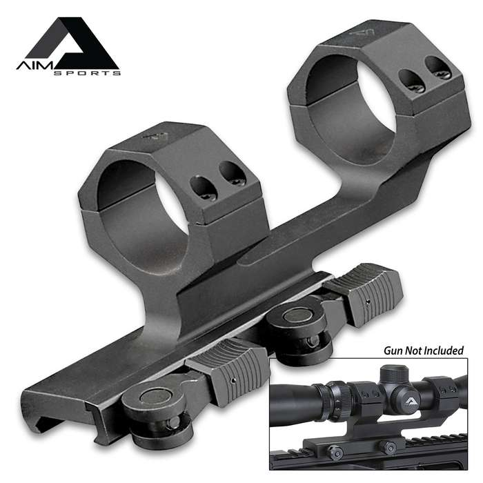 "30MM QD Cantilever Scope Mount - Anodized 6061 Aluminum Construction, Twin Recoil Lugs, Wide Contact Area - 1 3/4"" Height"