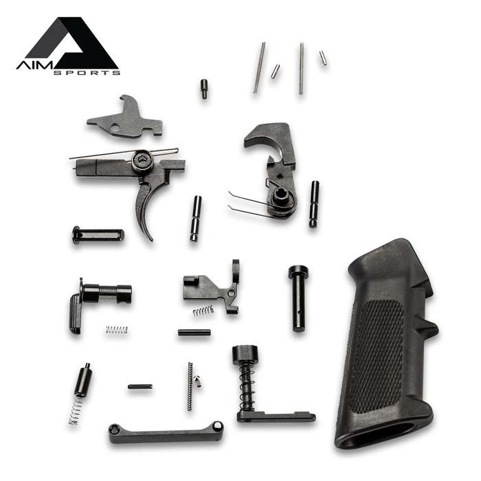 AIMS AR15 Complete Lower Parts Kit With Trigger - High-Quality Materials, All Necessary Parts Included