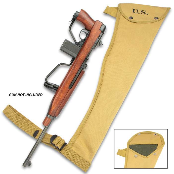 The WWII M1A1 Carbine Padded Jump Holster is a high-quality reproduction of the holster designed for the Paratrooper M1A1 Carbine Rifle