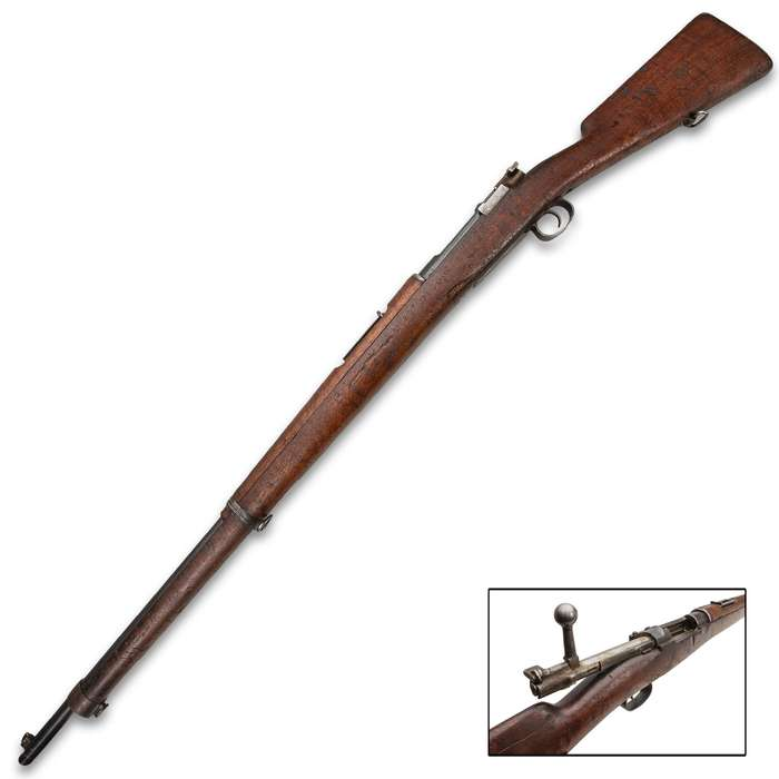 1895 Chilean Mauser 7MM Rifle - Antique Gun, No FFL Required, Collectible, Incomplete - SOLD AS-IS