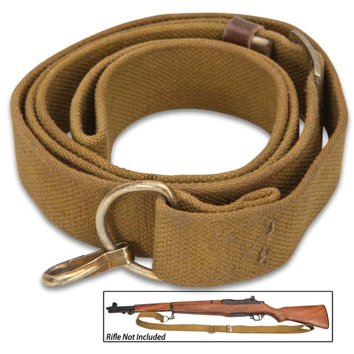 European AKM Rifle Sling - Quality Military Surplus, Used Good Conditions, Nylon Webbing Construction, Metal Hardware